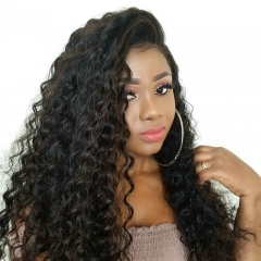 Loose Curly 360 Lace Frontal Wig Brazilian Virgin Hair 360 Wig Human Hair Wigs Pre Plucked With Baby Hair