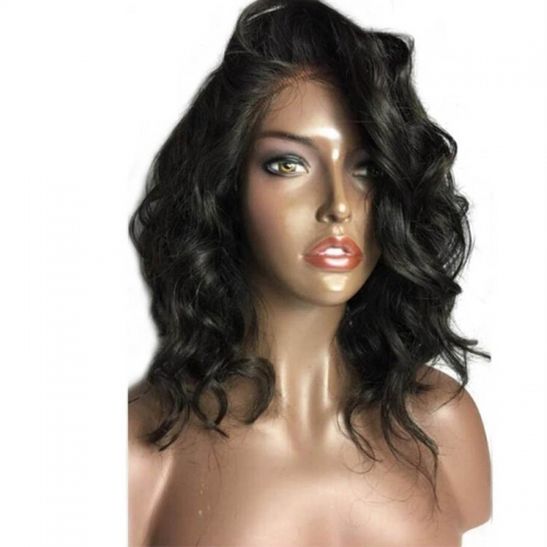 Hot Sale Human Hair Bob Wig Curly Lace Front Bob Wig With Baby Hair Virgin Human Hair Wigs For Black Women