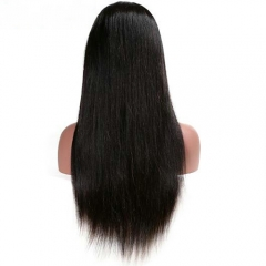 Silk Straight Full Lace Wig Virgin Human Hair Pre Plucked Natural Hairline With Baby Hair Wigs For Black Women