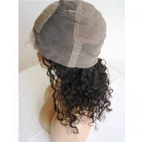 Curly Silk Top Full Lace Wig Virgin Hair Silk Top Lace Wig For Black Women