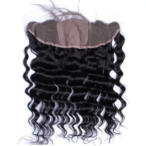 Loose Wave Silk Frontal Closure 13x4 Silk Lace Frontal With Baby Hair Ear To Ear Lace Frontal
