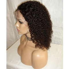 Silk Top Lace Front Wig Afro Kinky Culry Virgin Hair Lace Wigs With 4x4 Silk Top