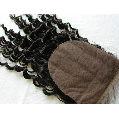 7x7 Silk Closure 18 Inch Loose Curly Virgin Hair Silk Base Closure