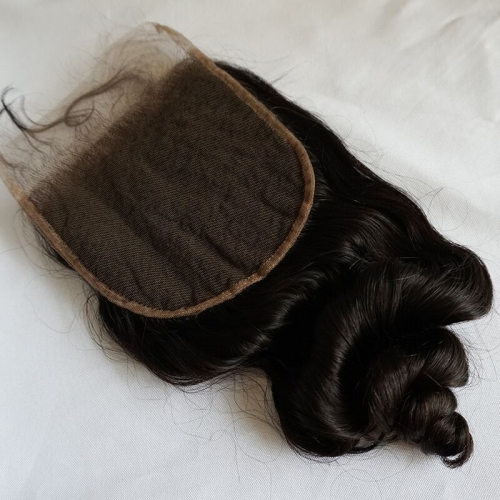 Loose Wave 6x6 Lace Clousre Pre Plucked Hairline Virgin Human Hair Closure With Baby Hair