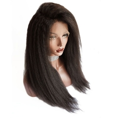 Italian Yaki Full Lace Wig Pre Plucked Natural Hairline Lace Wig With Baby Hair