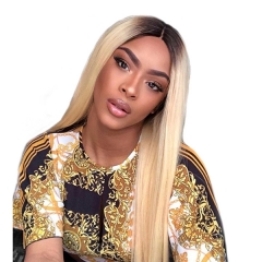 1b 613 Ombre Blonde Full Lace Human Hair Wigs Pre Plucked Full Lace Wig With Baby Hair Remy Hair