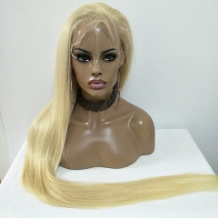 40Inch Silk Straight #613 Full Lace Wig With Baby Hair Virgin Hair Long Blonde Lace Wig