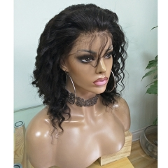 Transparent Lace Full Lace Wig Virgin Hair Deep Wave Lace Wigs With Transparent Lace Pre Plucked