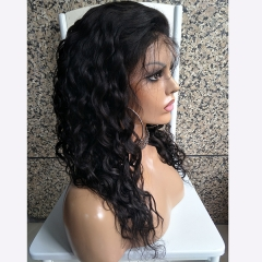 150% Density Nautral Culry Full Lace Wig Pre Plucked Natural Hairline Human Hair Wig For Black Women