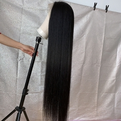 40 Inch Long Straight Full Lace Wig Virgin Human Long Hair Wigs With Baby Hair