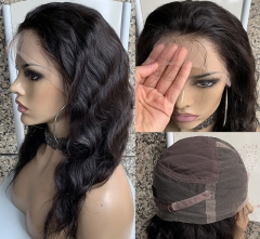 Transaprent Lace Wig Body Wave Human Hair Wig Pre Plucked Natural Hairline Full Lace Wig