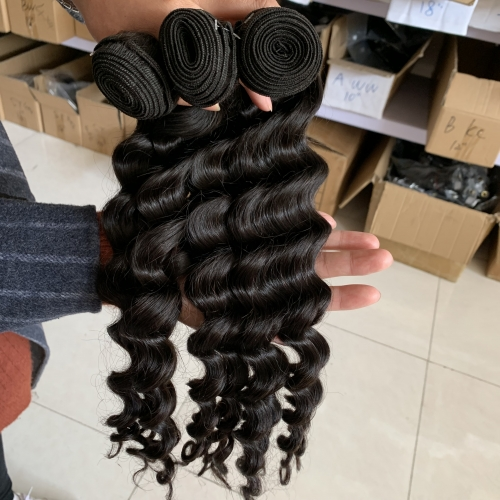 Loose Wave Hair Bundles 3PCS Lot Virgin Hair Wavy Hair Weaving Extensions