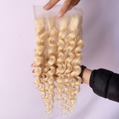 Blonde Loose Wave 5x5 Lace Closure Virgin Human Hair Lace Closure