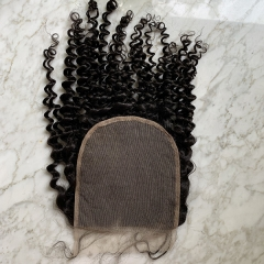 Transaprent Lace Closure 6x6 Kinky Culry Human Hair Closure Pre Plucked Hairline With Baby Hair