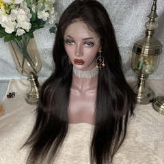 7x7 Closure Wig Straight Virgin Human Hair Lace Closure Wig Pre Plucked Straight Hair Wig With Baby Hair