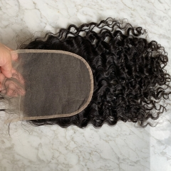 Tansparent Lace Culry Hair Closure 6x6 Human Hair Lace Closure With Baby Hair