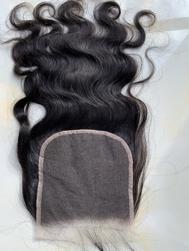 Body Wave 6x6 HD Lace Closure Peruvian Hair Swiss Lace Front Closure Pre Plucked With Baby Hair