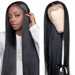 Straight Lace Front Human Hair Wigs With Baby Hair Virgin Human Hair Lace Wigs Pre Plucked Natural Hairline Lace Front Wig For Black Women